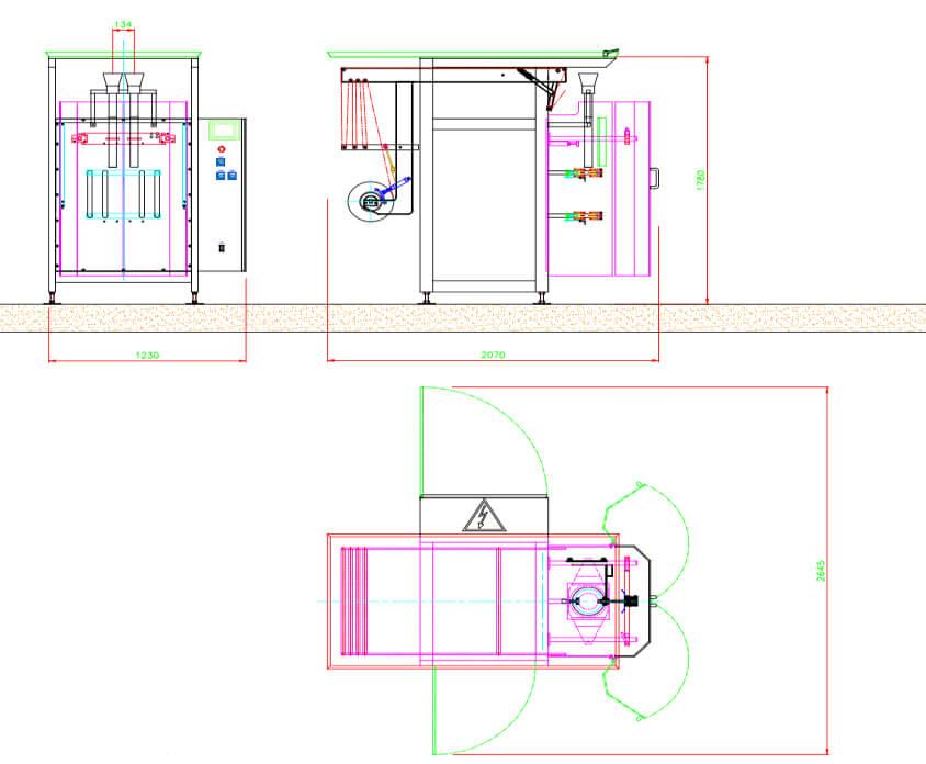 Envasadora vertical Dúplex. RSD-300