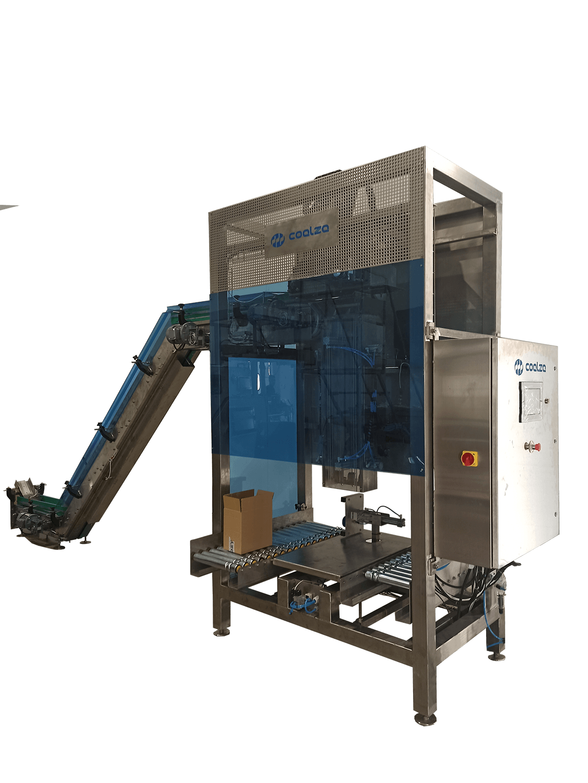 Packaging machines for dried fruit and non-fragile stackable products